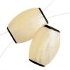 Shell Shape Beads 36x26x8mm Natural